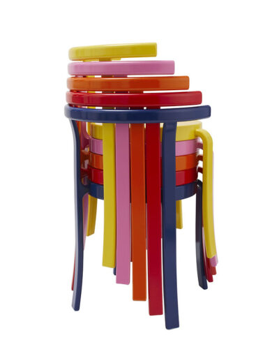 8000 series chair stack retro colours